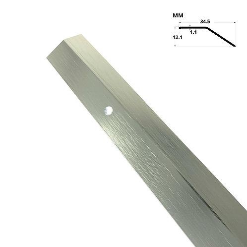"Tile Trim Edging Stair Nosing Silver Matt (Length 120"")"