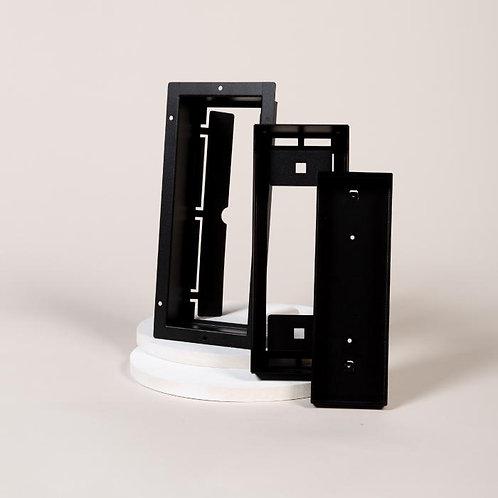"""Aria Flushmount Custom Vent Air 4"""" X 10"""" Matte Black"""