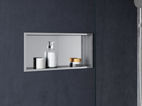 What is a good height for a shower niche?