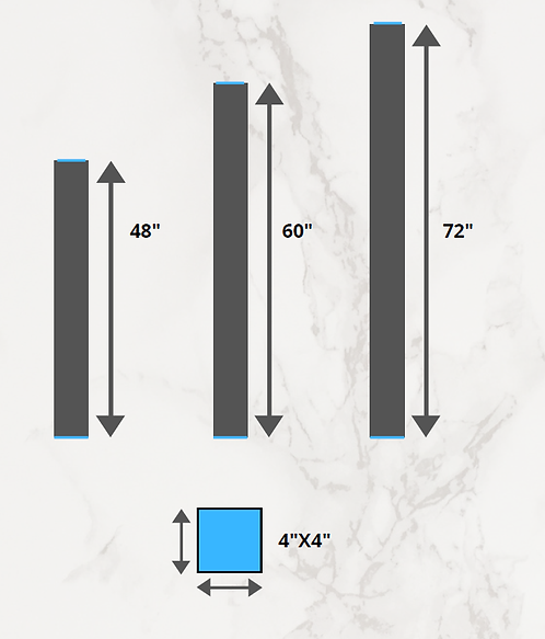 "Waterproof Shower Curbs 72""X4""X4"""