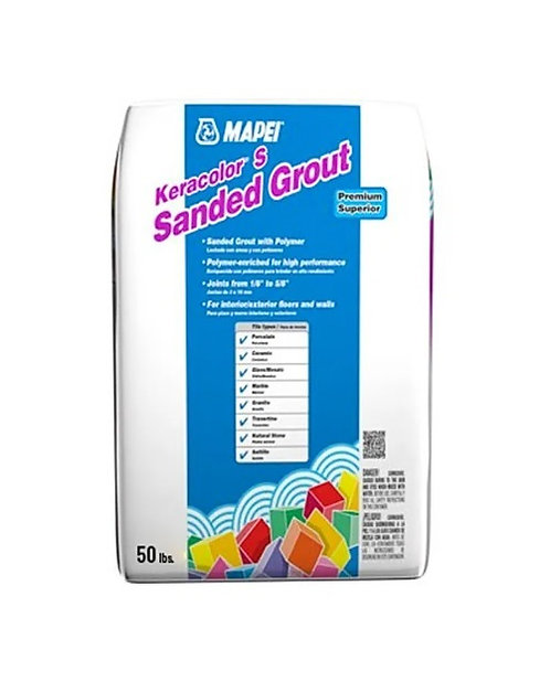 Mapei Keracolor S (Sanded Grout) 50lb #27 Silver