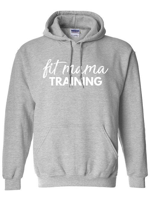 Light Heather Grey Fit Mama Hooded Sweatshirt