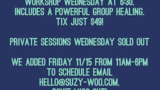 Suzy Woo in Bridgewater MA healing workshop psychic readings