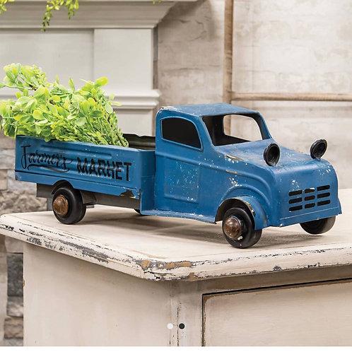 Blue Farmers Market Truck