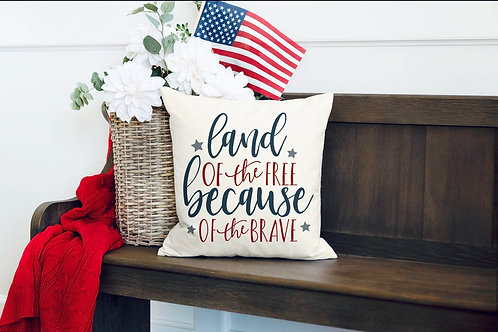 """""""Land of the free"""" pillow"""