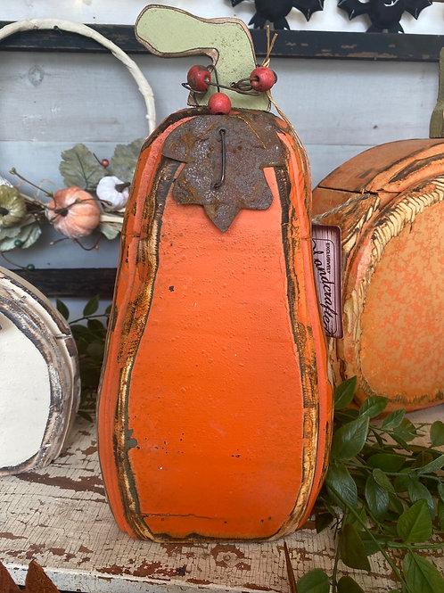 Wooden pumpkin medium orange