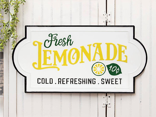 Fresh Lemonade Enamel Sign