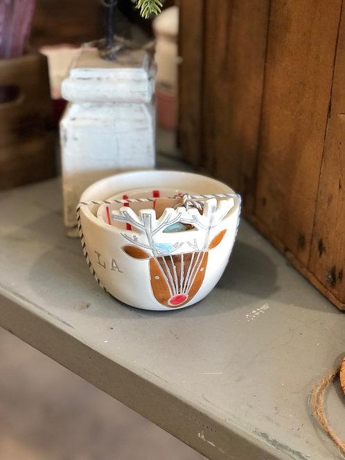 Reindeer bowl set