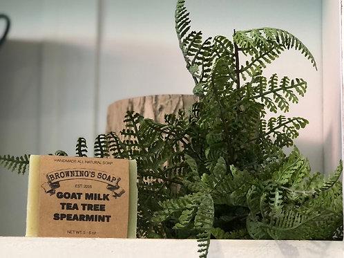 Soap- goatmilk tea tree spearmint