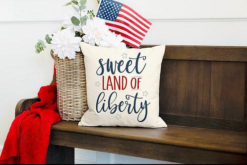 """""""Land of liberty"""" pillow"""
