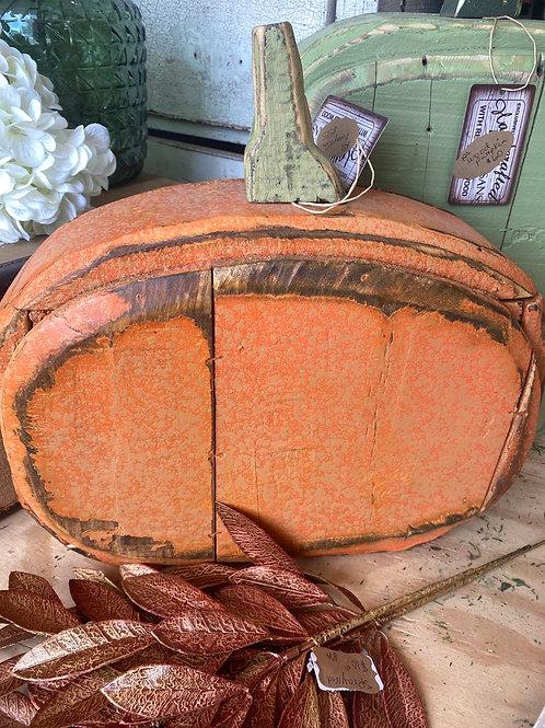 Wooden pumpkin orange