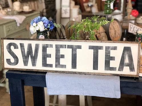 "Sign - wood ""Sweet Tea"""