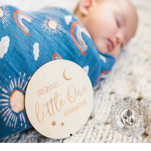 Narwhal and Hello Sunshine Muslin Swaddle Blanket Set