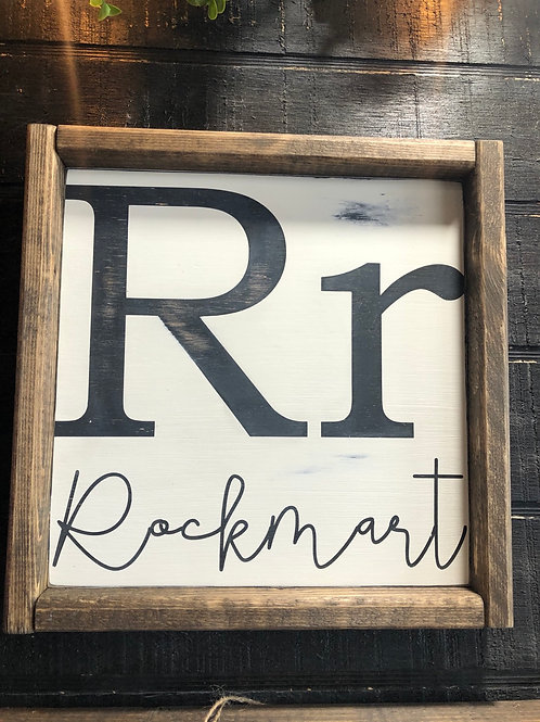 Rockmart Sign - 11.5 x 11.5