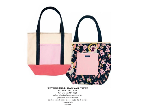 Canvas Tote - Reversible