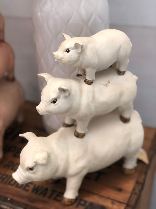 Set of Pigs - stack of three