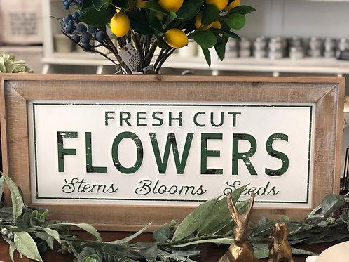 Sign - Fresh Cut Flowers
