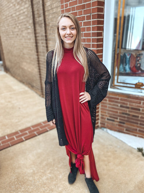 Maxi dress burgundy