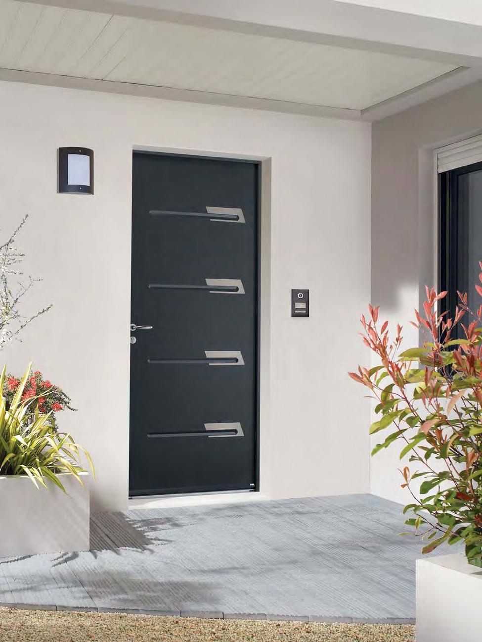 Porte aluminium Yvelines grise