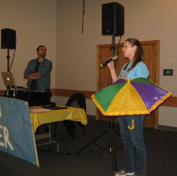 Kristin with umbrella