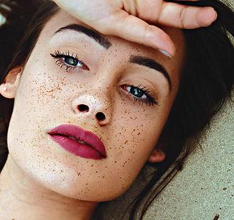 Vakker jente med Freckles