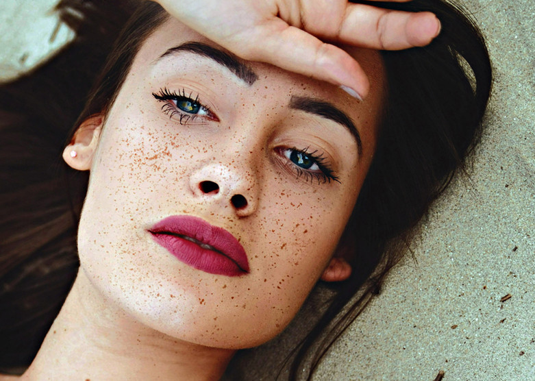 Beautiful Girl with Freckles