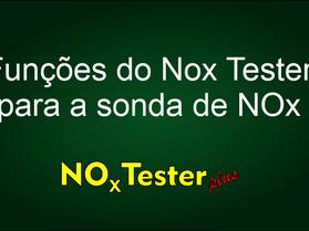 Todas as funções do NOx Tester para Sonda de NOx