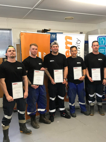 Team Stratford - Cable Jointing Graduates