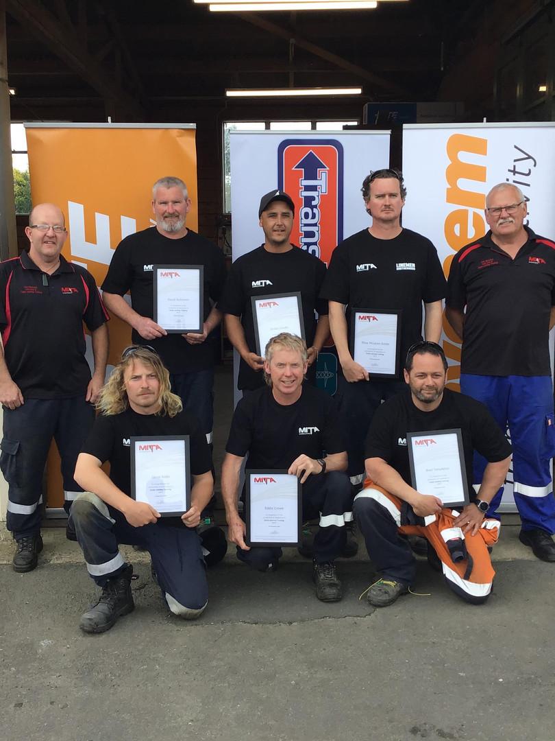 Team Waipawa - Cable Jointing Graduates