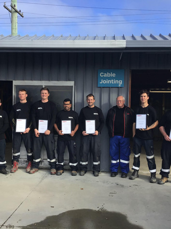 Team Paihia - Cable Jointing Graduates