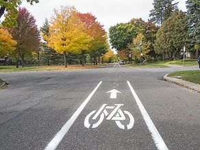 photo of painted bike lane on Summit Ave