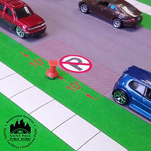 model showing fire hydrant parking rules