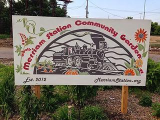 Merriam Station Community Garden sign