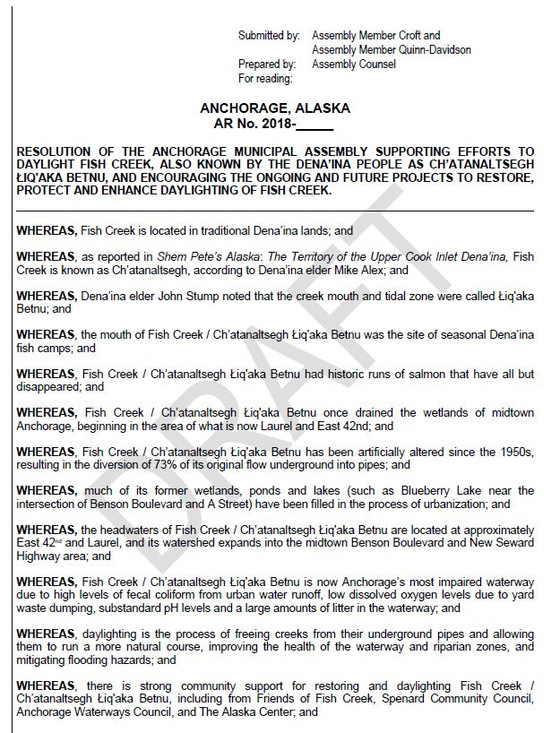 Resolution to Daylight Fish Creek / Ch'atanaltsegh Łiq'aka Betnu