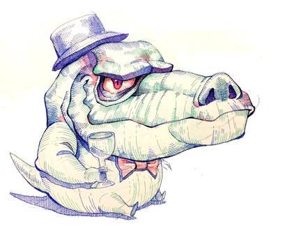 Tiny Gentleman Doodle