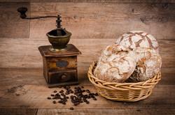 Mlýnek a žitná placka a chleba
