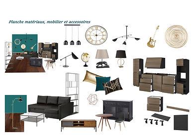 matrice planche materiaux, mobilier et a