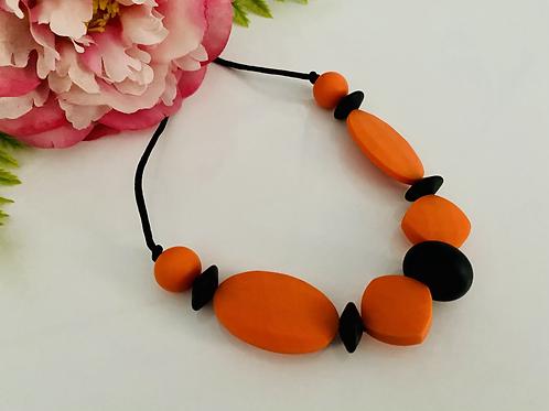 Orange/Black Necklace