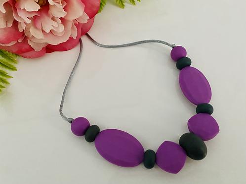 Purple/Black Necklace