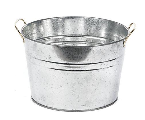 Silver Tin Bucket