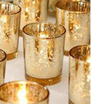 Gold Votive Candle Holder
