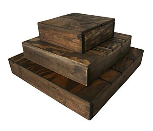 3-Tier Wooden Display
