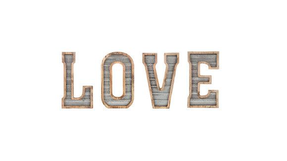 Wood & Glavanized Metal Letters
