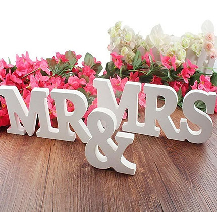 Mr. & Mrs. Wooden Letters
