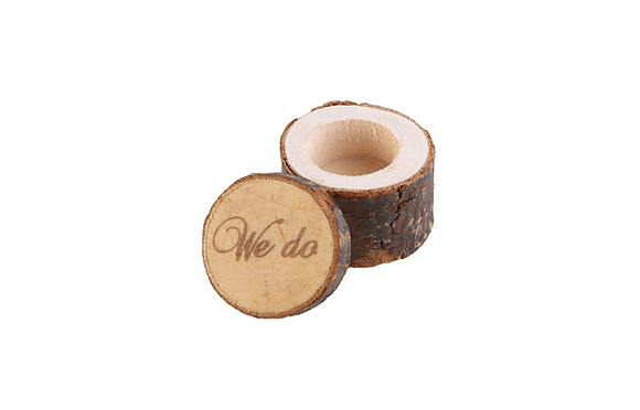 "Wooden ""We Do"" Ring Box"