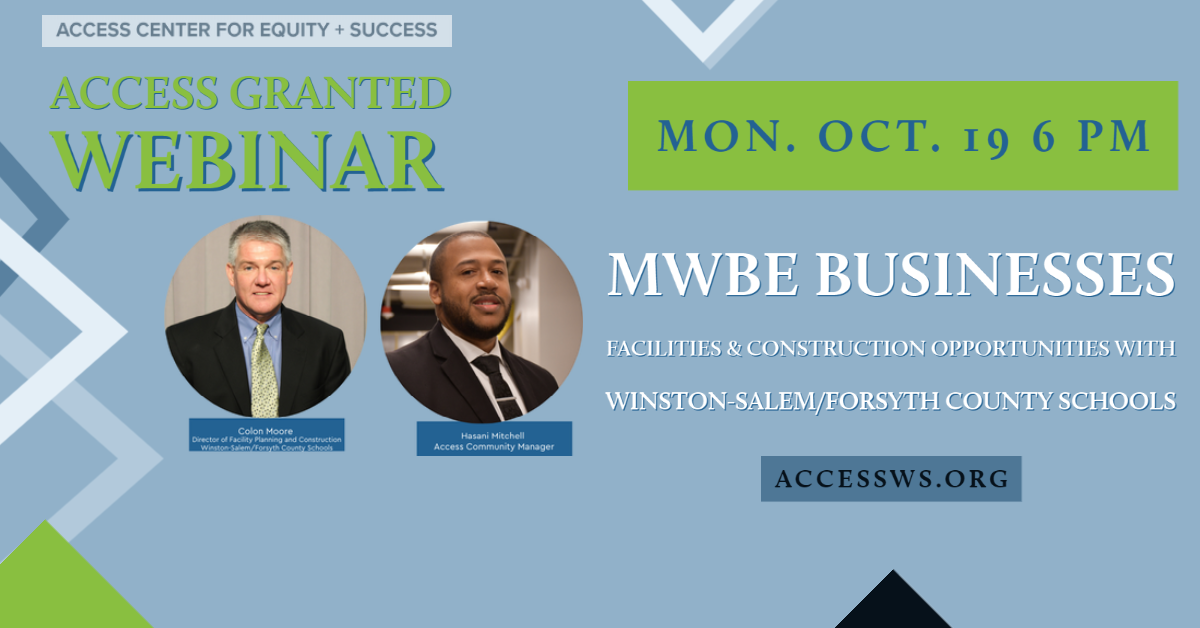 MWBE Opportunites with Winston Salem/ Forsyth County Schools