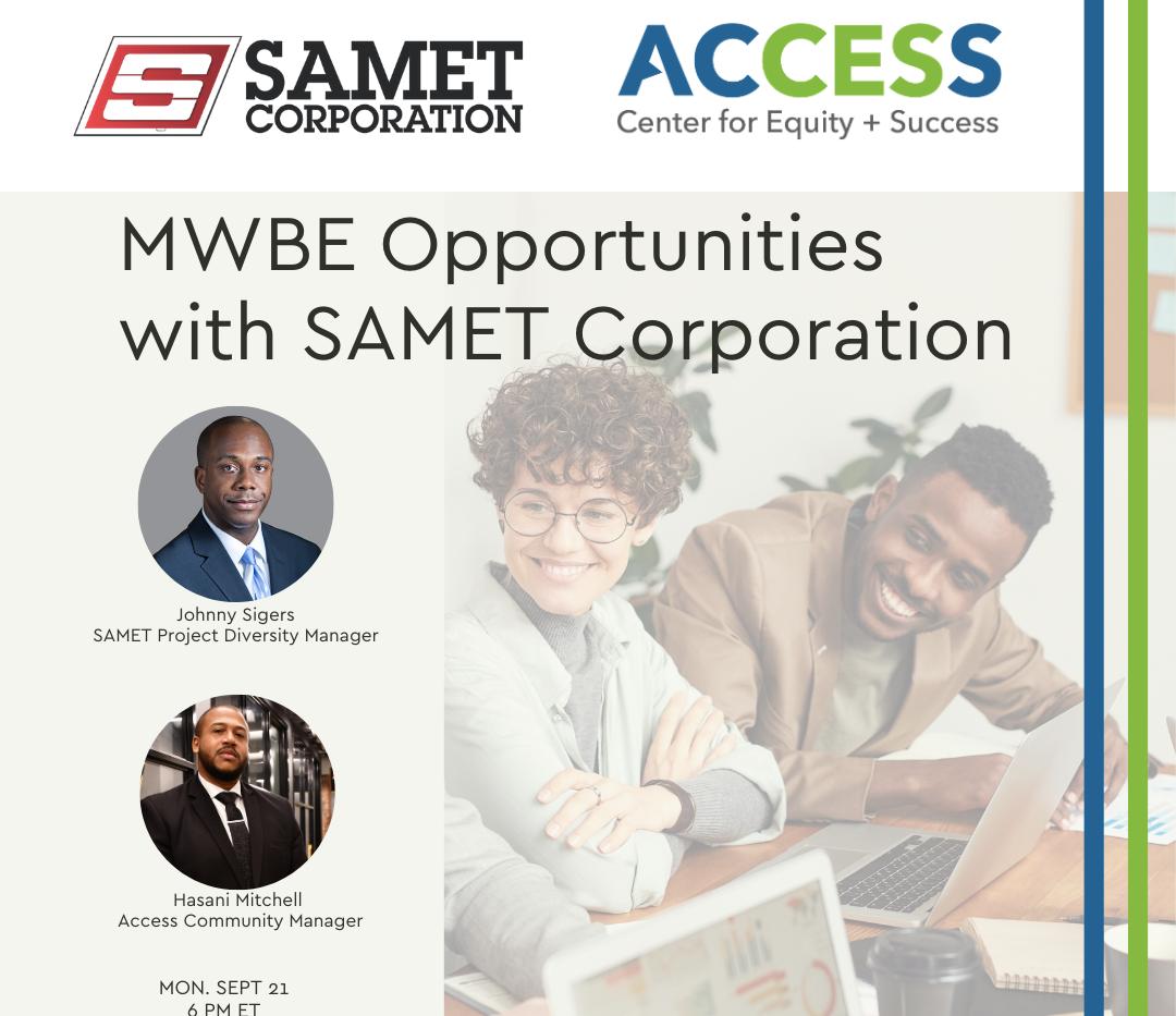 MWBE Contract SAMET Corporation