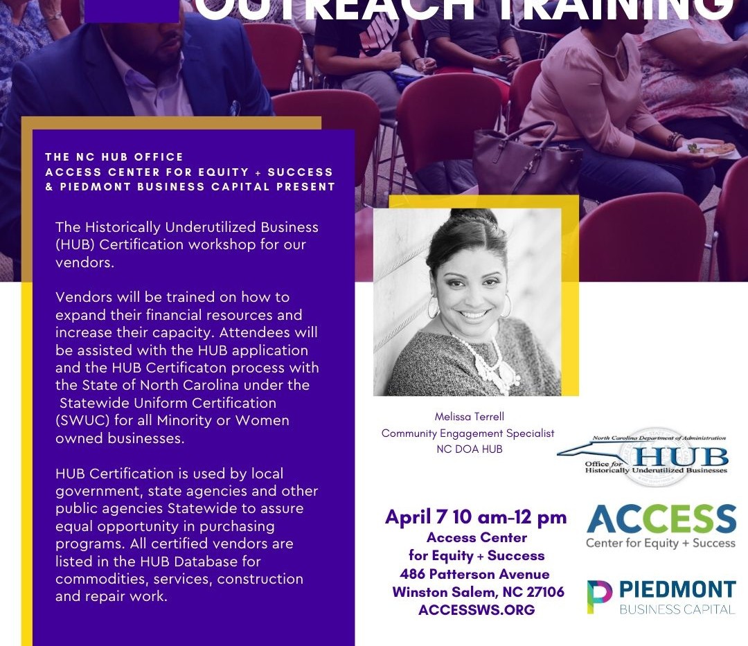 Historically Underutilized Business Certification Outreach Training