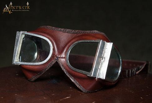 Fliegerbrille Leder / Aviator Glasses No.7