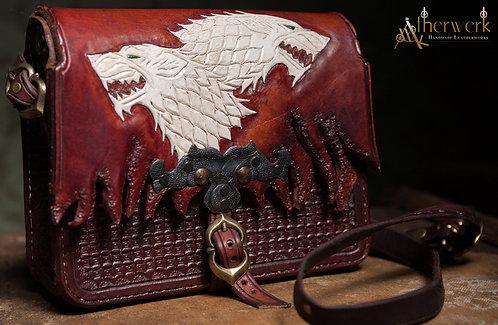 Ledertasche Stark Wölfe / Leatherbag Stark Wolves